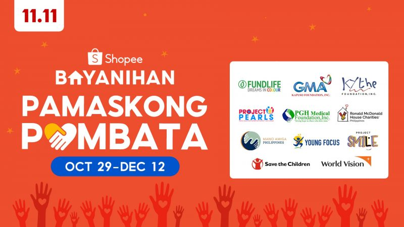 Shopee announces Shopee Bayanihan: Pamaskong Pambata to create positive impact for underprivileged children