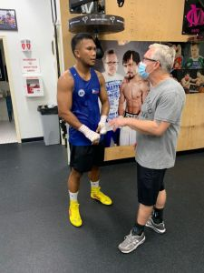 Olympian Marcial, Freddie Roach train together at Wild Card Gym