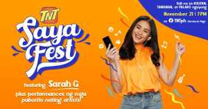 Popstar Royalty Sarah G headlines TNT's biggest online event this year – Saya Fest on Nov.21