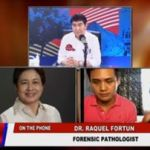 Death of FA 'inconclusive' as far as forensic pathologist Dr. Raquel Fortun is concern