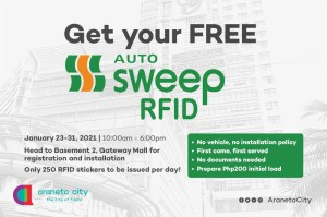 How to get your free AutoSweep RFID in Araneta City