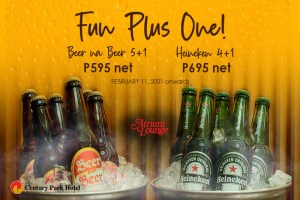 Chill out with Century Park Hotel's bucket specials