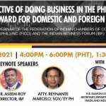 """Federation of Indian Chambers of Commerce Phils. Inc. and IBF held a joint webinar, """"Perspective of doing business in the Philippines"""""""