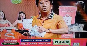 Student from Tarlac is now a Wowowin Shopee Milyonaryo