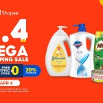 Stay home and stock up on your essentials at the Shopee 4.4 Mega Shopping Sale
