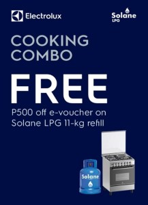 A shiny new cooking range and quality LPG with Electrolux and Solane's cooking combo