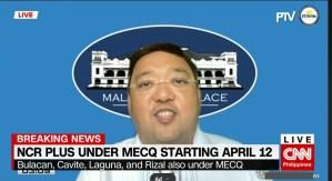 NCR Plus under MECQ starting April 12