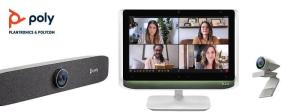 Command the conversation with Poly's new series of personal video solutions to look and sound your best from anywhere