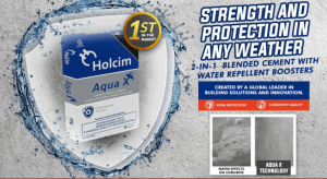 Water repellent cement Holcim Aqua X was launched in Davao and will be made available throughout Mindanao by end of the year