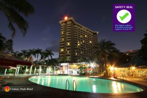 Department of Tourism recently awarded the Safety Seal Certification to Century Park Hotel