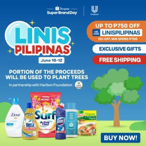 """Unilever and Shopee partner for a Cleaner Future with """"Linis Pilipinas"""" campaign"""