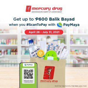 #ParaSaYoSuki: Get up to P600 cashback at Mercury Drug with PayMaya