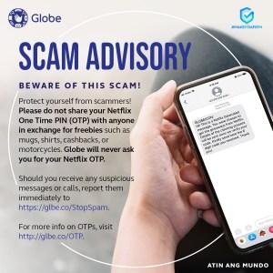 Globe warns of scams targeting OTT's, postpaid customers