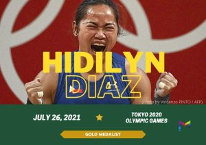 """""""The goal is getting the gold, but also taking each day as a chance to start over"""" – Olympic gold medalist and Manulife brand ambassador Hidilyn Diaz"""