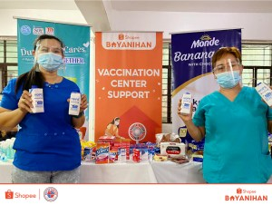 Shopee and Taguig LGU Provide Care Packages to Support Vaccination Efforts