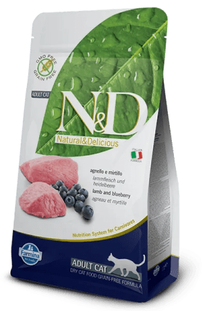 N&D GRAIN FREE FELINE LAMB & BLUEBERRY ADULT 5kg