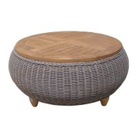 Outdoor Paradise Ottoman Teak Top | Padma's Plantation ...