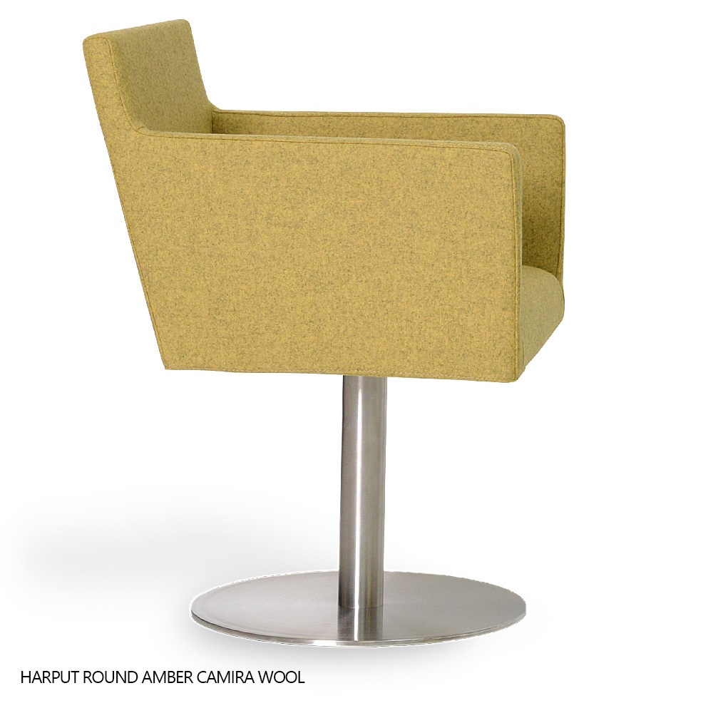 swivel arm chairs extra wide office harput round chair sohoconcept armchairs tap to expand