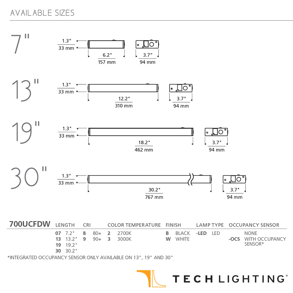 hight resolution of unilume led direct wire undercabinet light tech lighting
