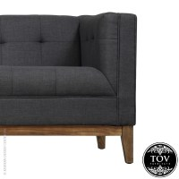Gavin Grey Linen Sofa | Tov Furniture | MetropolitanDecor