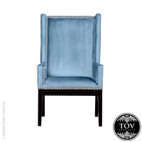 Tribeca Blue Velvet Chair | Tov Furniture | MetropolitanDecor