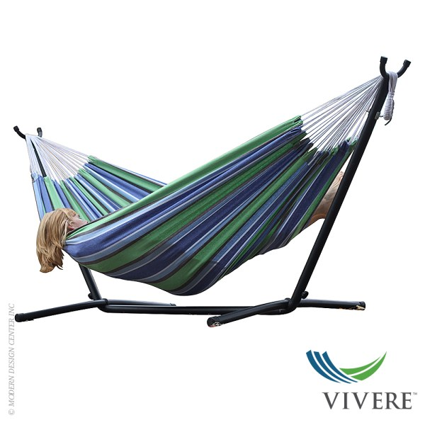 Cotton Double Hammock with Stand