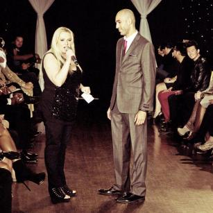 Rose Mandel and Marco Foster at Next Fashion 2012 runway show at Germania Place during Fashion Focus Week Chicago.