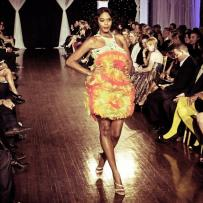 Design by Studio Alade shown at Next Fashion 2012 runway show at Germania Place during Fashion Focus Week Chicago.