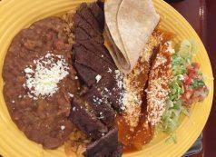 carne-asada-red-chile-enchilada-platter-rancho-del-zocalo
