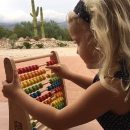 wooden rainbow abacus hape toys