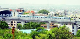 Metro Rail foundations have been laid on 58 km, pillars on 56 km and viaduct on 46 km. The total project stretches 72 km.