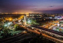 A view of Surat City in Night