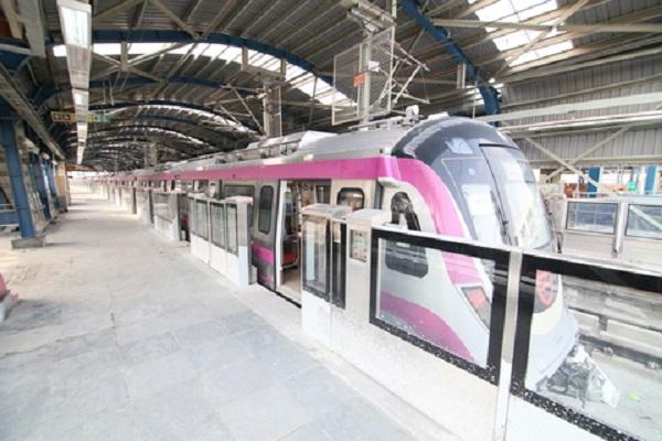 Delhi Metro Dmrc S Kalkaji Botanical Garden Magenta Line
