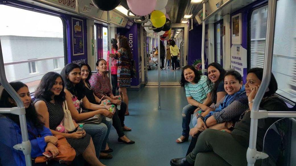 Image result for delhi metro ladies coach