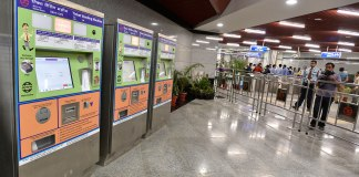 Ticket Vending Machines installed at Delhi Metro Stations