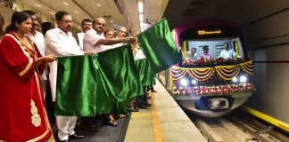 green Line of Bengaluru's Namma Metro gets its first six-car train