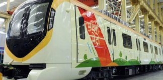 CRCC Designed and Manufactured train for Nagpur Metro Phase 1 Project