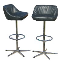 Metro Retro Furniture : (2) Vintage Bar Counter Stools ...