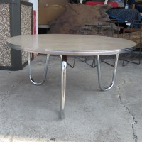 "36"" Vintage Dixie Chrome Art Deco Coffee Table Chrome Legs ..."