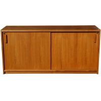 "65"" Mid Century Wood Wall Credenza File Cabinet | eBay"