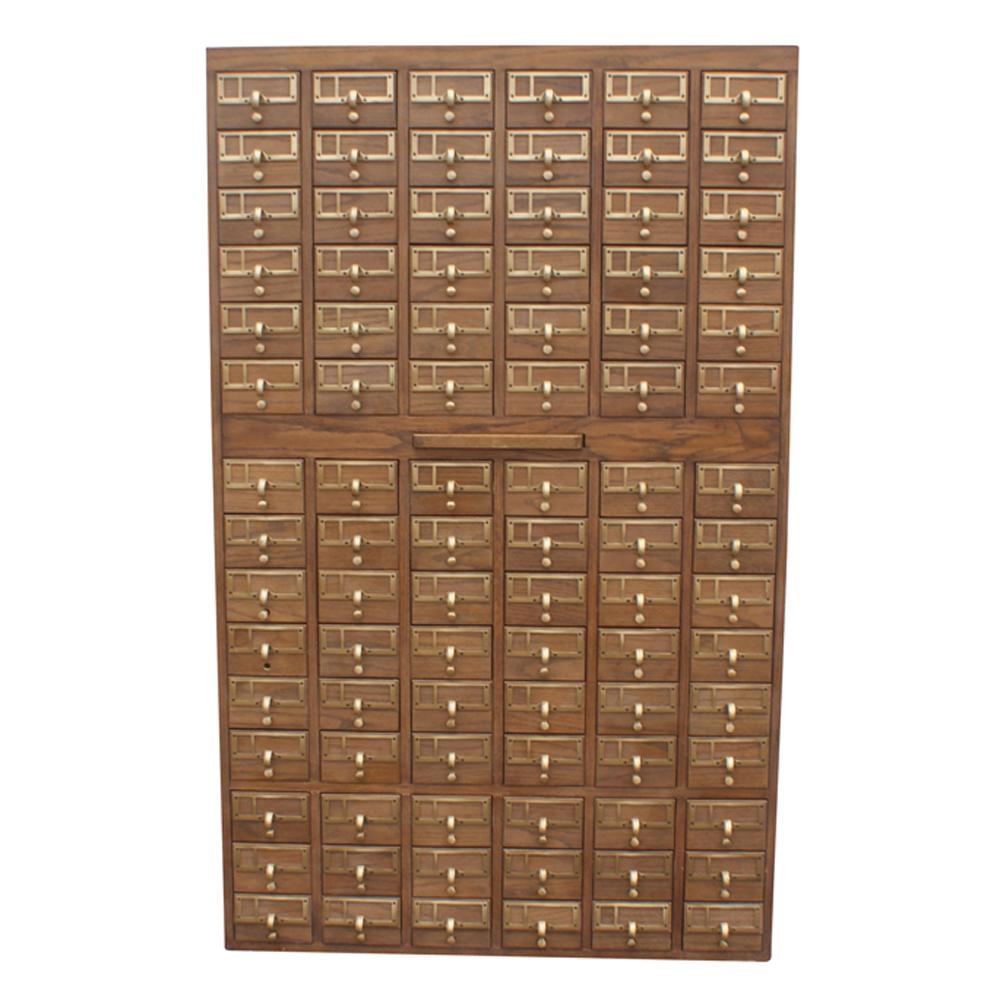 Vintage 90 Drawer Card File Cabinet  eBay
