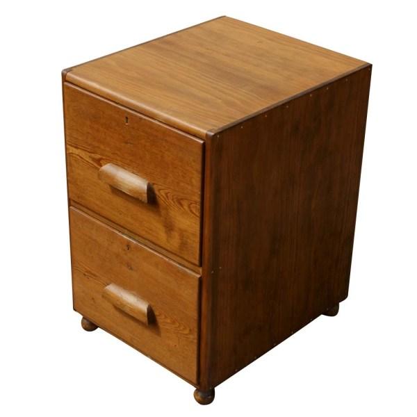 2 Drawer Oak Filing Cabinet