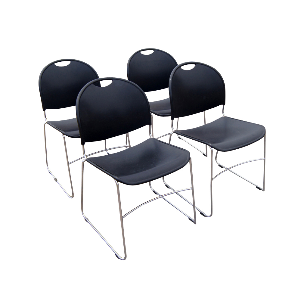 4 Haworth Comforto System 12 Stacking Chairs  eBay