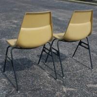 (2) Vintage Krueger Fiberglass Stacking Side Chairs | eBay