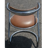 Art Deco Metal Tubular Side Accent Chair | eBay