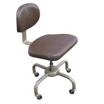 Vintage Metal Industrial Chair Brown