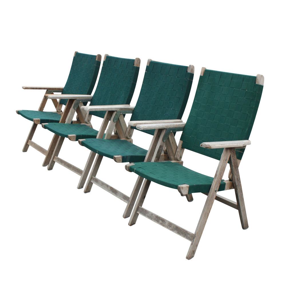 4 Vintage Outdoor Folding Chairs  eBay