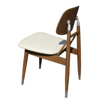 Vintage Mid Century Carrom Wood And Metal Chairs