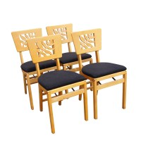 (4) 1940s Hollywood Regency Stakmore Folding Chairs PRICE ...
