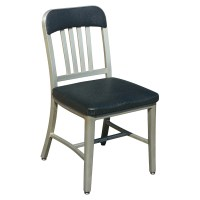 (1) Vintage Emeco Aluminum Dining Side Chair | eBay